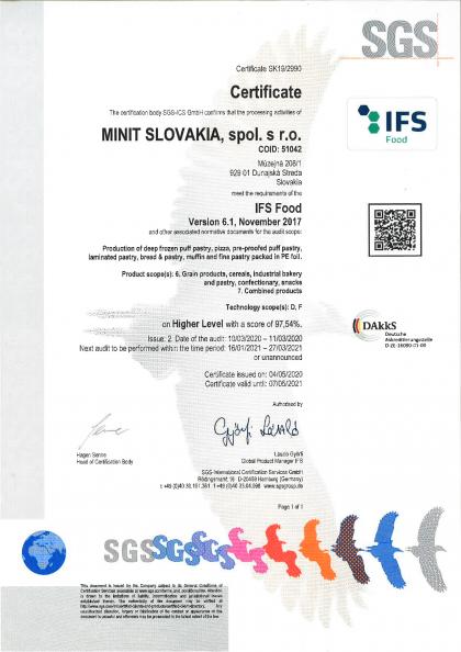 IFS certifikát 2021