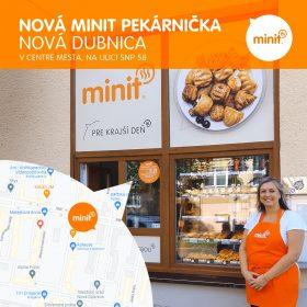 Nová MINIT pekárnička v Novej Dubnici