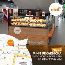 Nová MINIT pekárnička v obchodnom dome Nitra