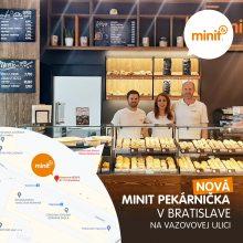 Nová MINIT pekárnička na Vazovovej ulici v Bratislave
